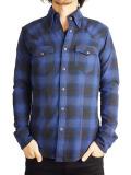 Battalion Lumberjack Ombre Flannel Shirt Blue