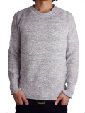 Toecutter Feather Knit Deep Crew L/S Gray