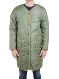 ALPHA Reversible Quilt Long Liner Jacket Light Olive