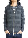 Seagreen pile border hoodie c.gray