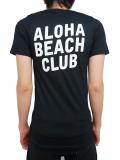 "ALOHA BEACH CLUB S/S ""FIELD"" TEE BLACK"