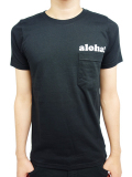 "ALOHA BEACH CLUB S/S ""ALOHA"" POCKET TEE BLACK"