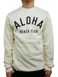 ALOHA BEACH CLUB CLUB CREW SWEATSHIRT SAND