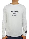 OAKLAND SURF BLACK BALL L/S TEE WHITE