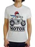 SEVESKIG × SNOOPY T-SHIRT(MOTOR) WHITE
