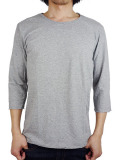 LIFE IS.... ROUGH NECK 7SLEEVE GREY