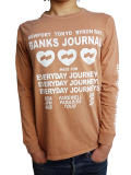 BANKS LOVE STONED L/S TEE SHIRT FADED PEACH