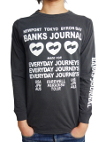 BANKS LOVE STONED L/S TEE SHIRT DIRTY BLACK