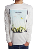 BANKS JOHN HOOK LOUNGING L/S TEE SHIRT OFF WHITE