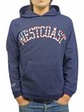 WEST 星条旗 Logo Indigo Hooded Sweatshirt