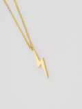 EDF Cutting BOLT Necklace (S) GOLD