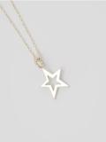 EDF Frame Star Necklace Silver