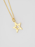 EDF Frame Star Necklace Gold