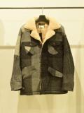 BIG BLOCK CHECK RANCH COAT BLACK