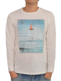 BANKS BOATS L/S TEE SHIRT OFF WHITE
