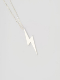 EDF CUTTING BOLT NECKLACE (M) SILVER