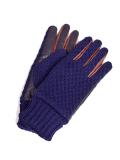 Battalion KNIT & ELECTRIC LEATHER GLOVE NAVY