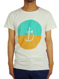 INSTED WE SMILE SMILEY ANCHOR FIFTY-FIFTY TEE