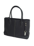 DESTINY'S DIMENSION Leather Tote Bag WESTWOOD 2 GRAPHITE PENCIL(Black)