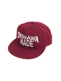 OKINAWA MADE SNAP BACK CAP WINE