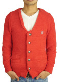 Toecutter BABY HAIR BUTTON CARDIGAN RED