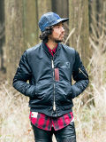 SEVESKIG NYLON L-2B REVERSIBLE JACKET BLACK