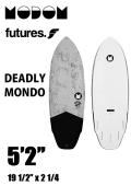 【予約商品】 MODOM DEADLY MONDO 5'2  GREY/BLACK