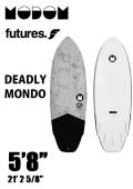 【予約商品】 MODOM DEADLY MONDO 5'8  GREY/BLACK