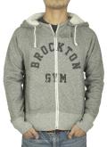 BROCKTON GYMNASIUM D-Pocket Zip up GRAY
