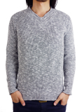 Toecutter FEATHER KNIT V-NECK L/S GRAY