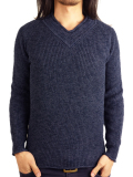 Toecutter FEATHER KNIT V-NECK L/S NAVY
