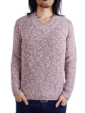Toecutter FEATHER KNIT V-NECK L/S RED