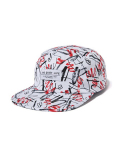 THE QUIET LIFE Jarvis 5-panel Camper Hat RED/WHITE