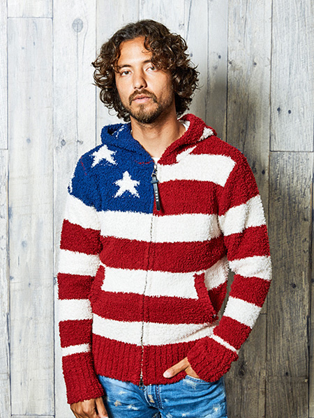TMT SHAGGY BOA US FLAG KNIT PARKA RED 予約