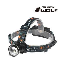 【BLACKWOLF(ブラックウルフ)】ヘッドライト[ズームタイプ] 2166(18650用)  Cree(クリー)XLamp XM-L2  ★閃光ライト 米国 アメリカ