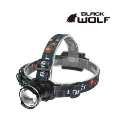 【BLACKWOLF(ブラックウルフ)】ヘッドライト[ズームタイプ] 2166 (単三電池用) Cree(クリー)XLamp XM-L2  ★閃光ライト 米国 アメリカ