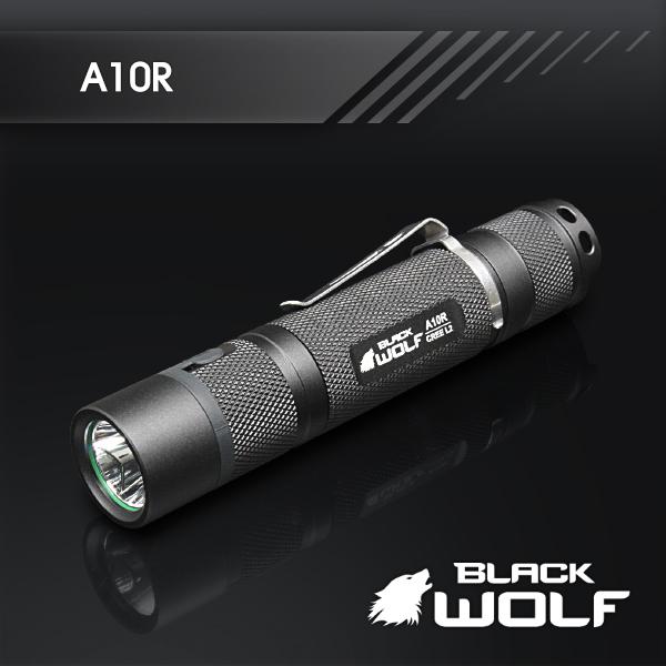 【BLACKWOLF(ブラックウルフ)】ハンディライト [リフレクタータイプ・SMO] A10R CreeXLamp XM-L2 LED(ホワイト)★電源18650バッテリー 閃光ライト