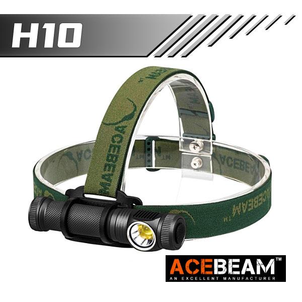 【ACEBEAM(エースビーム)】ヘッドライト H10/ Cree(クリー)XLamp MT-G2 q0(色温度5000K) 2000ルーメン/バッテリー装着★閃光ライト 米国 アメリカ
