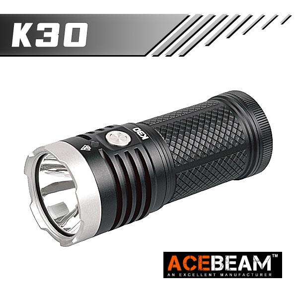 【ACEBEAM(エースビーム)】K30 / CREE XHP 70.2 LED Max5200ルーメン/照射距離374M/バッテリー別売★閃光ハンドライト 米国 アメリカ