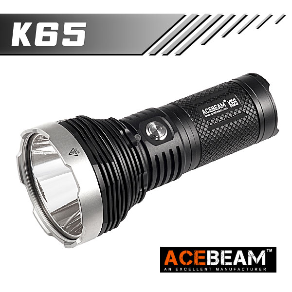 【ACEBEAM(エースビーム)】K65 XLamp/XHP70.2 Max18000ルーメン/照射距離1014M/バッテリー別売★閃光ハンドライト 米国 アメリカ