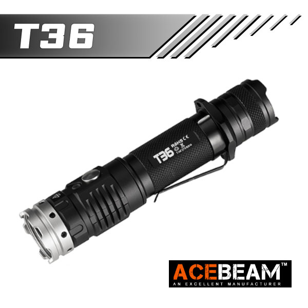 【ACEBEAM(エースビーム)】T36 /Cree(クリー)XLamp XHP35 HI LED搭載 2000ルーメン★閃光ライト