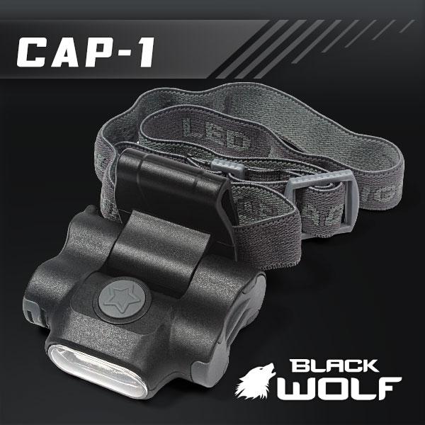 【BLACKWOLF(ブラックウルフ)】キャップライトCAP-1 COB(ホワイト)Max100ルーメン/ヘッドライトにもなるマルチライト/単四2本