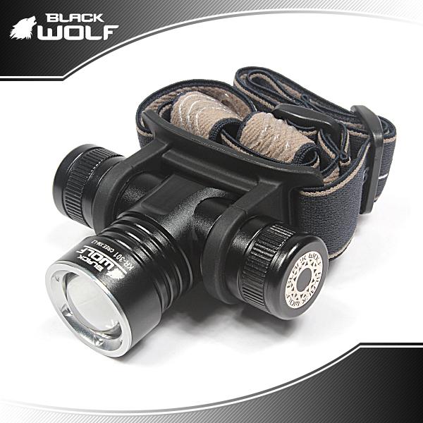 【BLACKWOLF(ブラックウルフ)】ヘッドライト301 ズームタイプ CreeXLampXM-L2(ホワイト) ★閃光ライト 米国 アメリカ