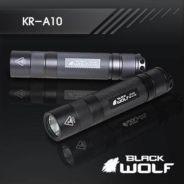 【BLACKWOLF(ブラックウルフ)】ハンディライト KR-A10 [リフレクタータイプ・SMO] A10 Cree(クリー)XLamp XM-L2 LED(ホワイト)★18650リチウムイオンバッテリー/閃光ライト