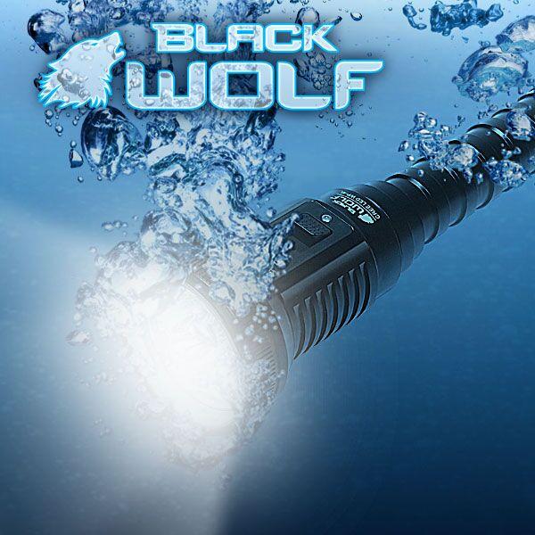 【BLACKWOLF(ブラックウルフ)】ハンディライト [リフレクタータイプ・SMO]WP-4L★ダイビングライトIPX8 ★CreeXLamp XM-L2 LED(ホワイト)Max3200ルーメン★リチウムイオン電池18650*2j本用