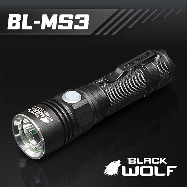 【BLACKWOLF(ブラックウルフ)】ハンディライト [リフレクタータイプ] BL-MS3  Cree(クリー)XLamp XM-L2 LED(ホワイト)Max950ルーメン