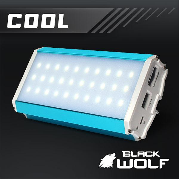 【BLACKWOLF(ブラックウルフ)】 モバイルLEDランタン(COOL/クール)★明るさ800ルーメン★モバイルバッテリー/スマートフォン充電可