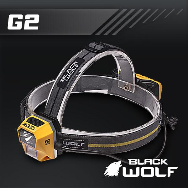 【BLACKWOLF(ブラックウルフ)】ヘッドライトG2 CREE XLamp XPG2 人体学から眼精疲労を軽減★1台2役ディスタンスライトとフロッドライト