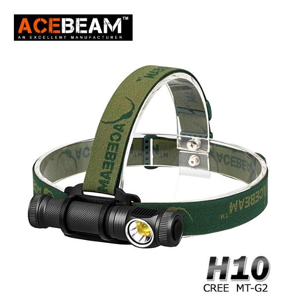 【ACEBEAM(エースビーム)】ヘッドライト H10/ Cree(クリー)XLamp MT-G2 q0(色温度5000K) 2000ルーメン/バッテリー装着