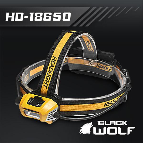 【BLACKWOLF(ブラックウルフ)】ヘッドライト HD-18650 ディマースイッチ 充電機能ビルトイン Cree XLamp XM-L2(ホワイト)Max600ルーメン ★閃光ライト 米国 アメリカ